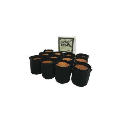 2 Gal. Fabric Pot with Coconut Coir Premium Growing Media (12-Pack)