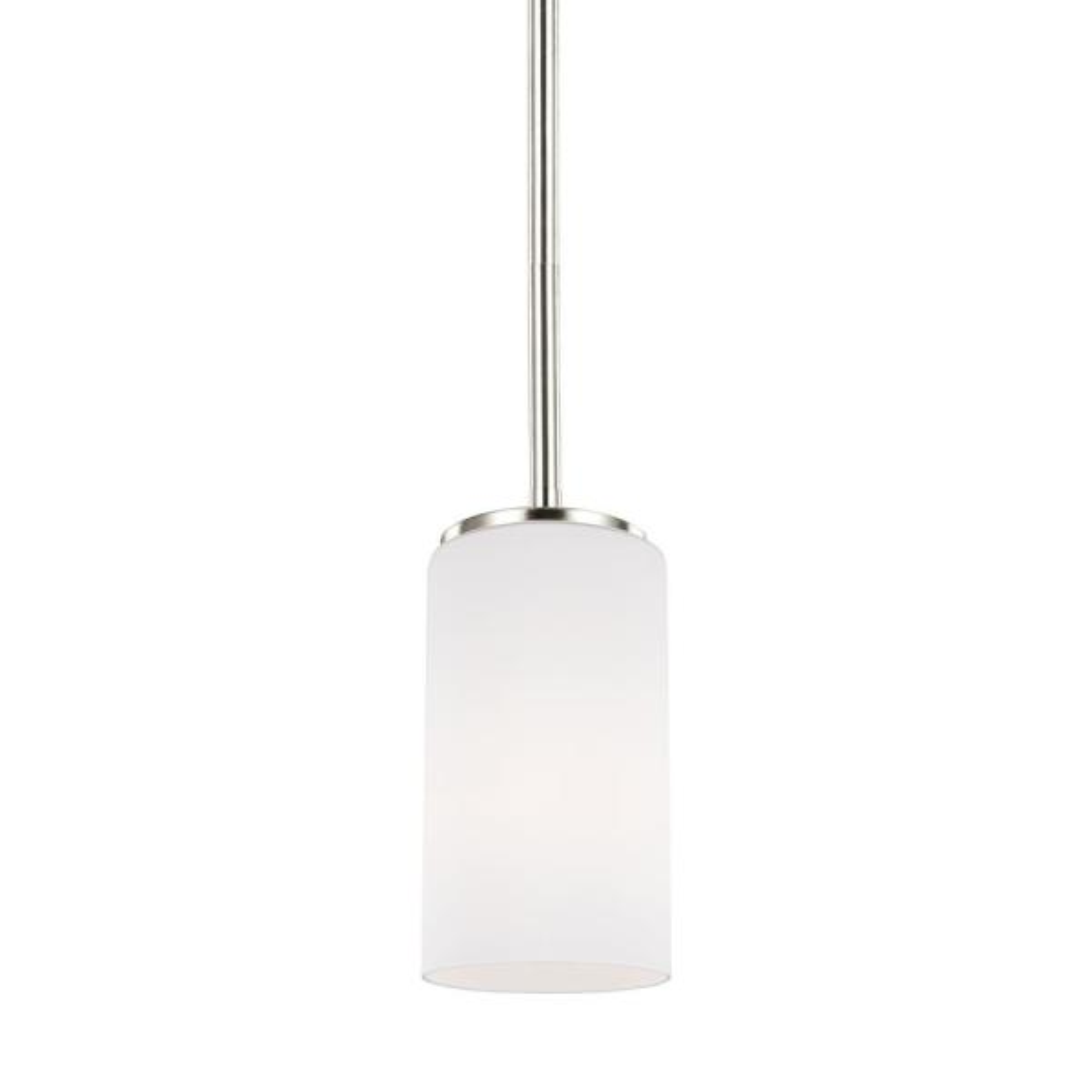 Alturas 1-Light Brushed Nickel Pendant with LED Bulb