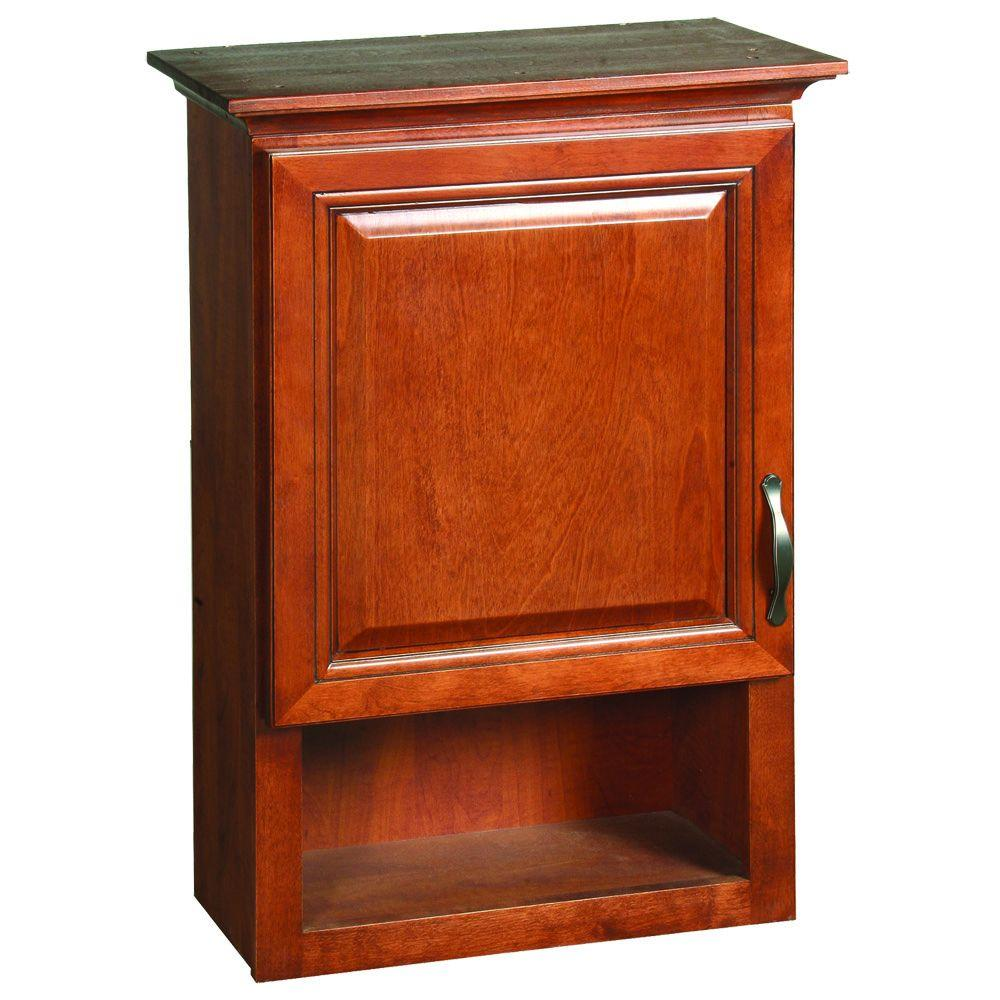 Design House Montclair 23 3 4 In W X 31 10 39 100 D Bathroom Storage Wall Cabinet Chestnut Glaze 538587 The Home Depot