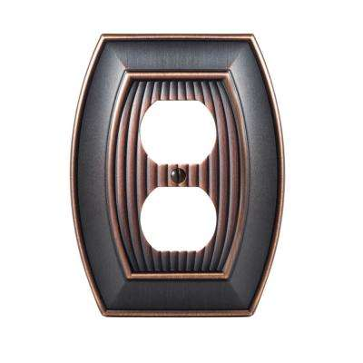 Sea Grass 1-Duplex Outlet Wall Plate, Oil-Rubbed Bronze