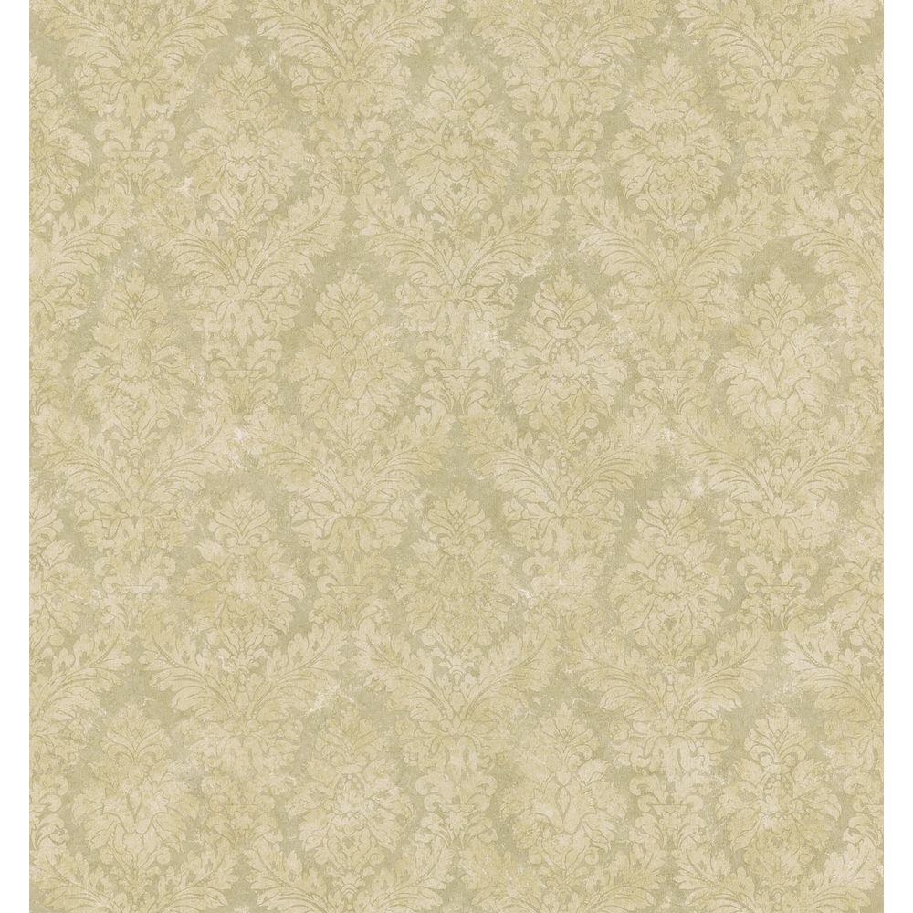 Textured Weaves Beige Textured Damask Wallpaper Sample