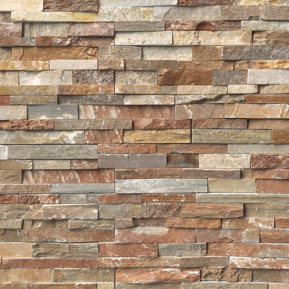 Golden White Ledger Panel 6 in. x 24 in. Natural Quartzite Slate Wall Tile (10 cases/40 sq. ft./pallet)