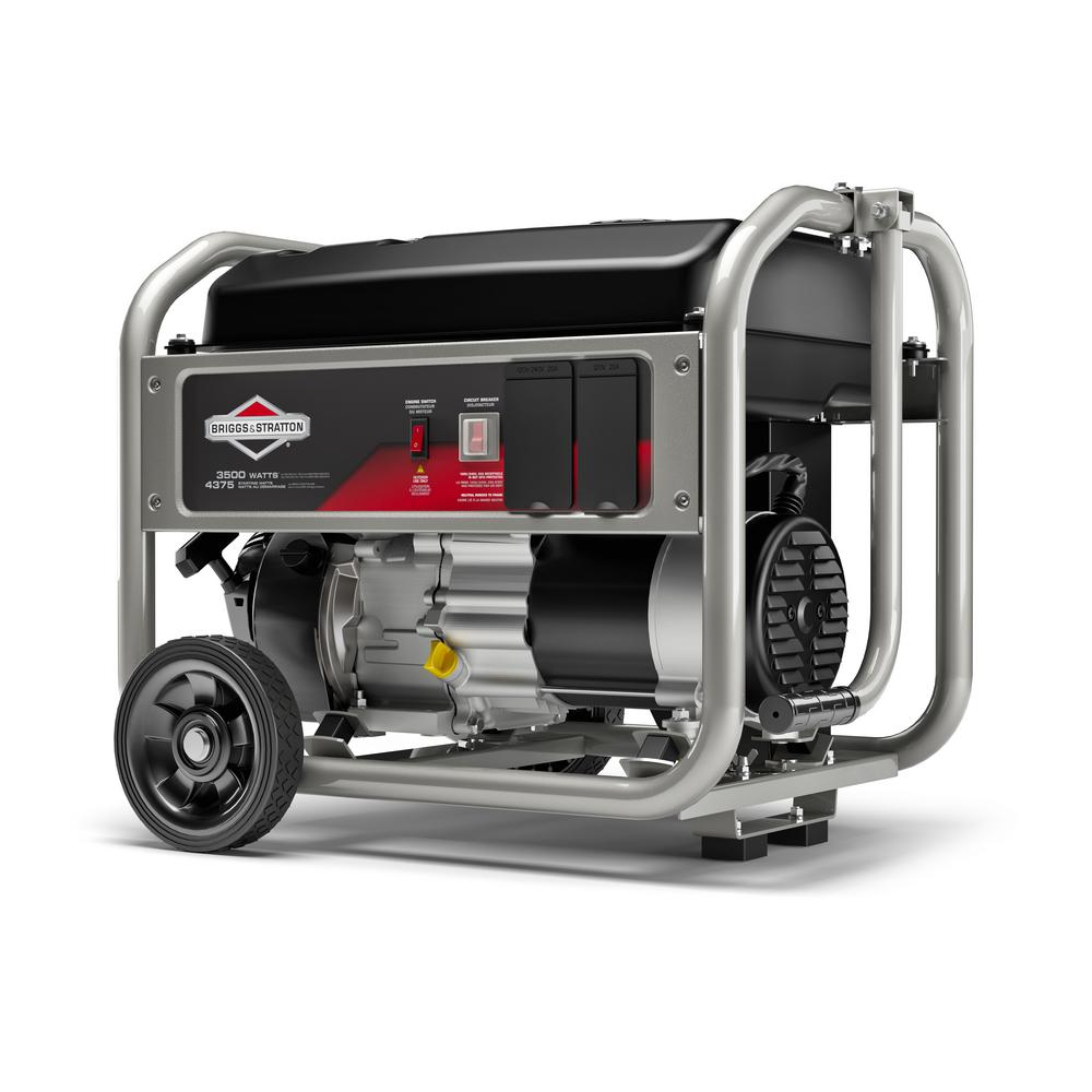 Briggs & Stratton 3,500-Watt Gasoline Powered Manual Start Portable  Generator with Briggs and Stratton