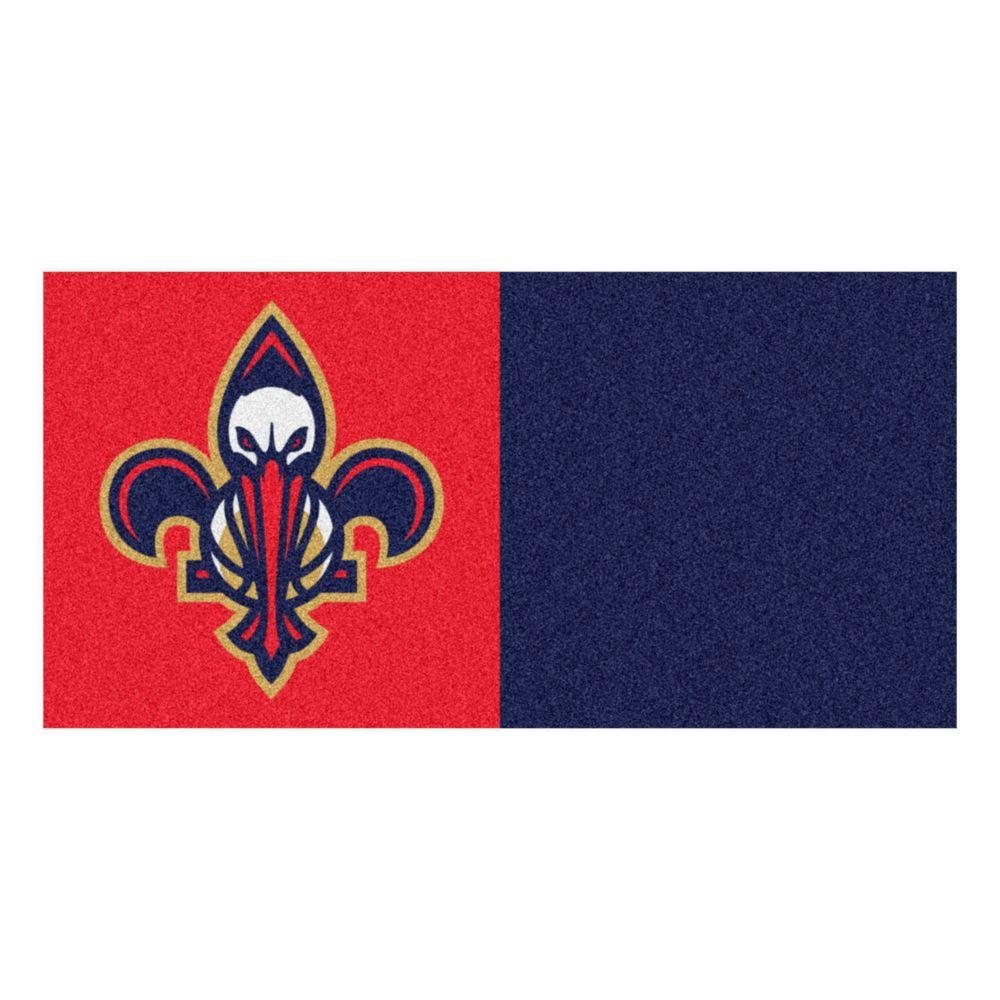 NBA New Orleans Pelicans Red and Blue Pattern 18 in. x