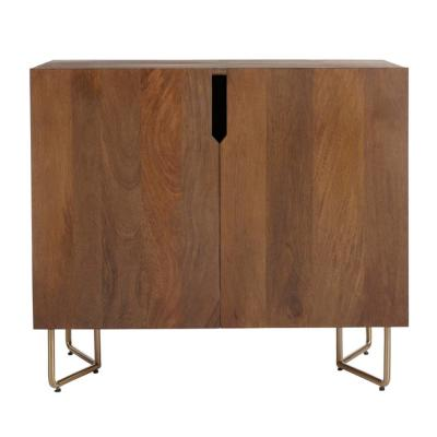 Home Decorators Collection Haze Oak Finish Wood Cabinet with Brass Finish Metal Base (33 in. W x 29.75 in. H)