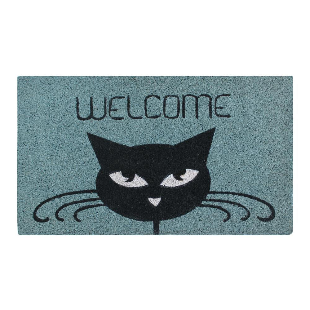 A1hc First Impression Welcome Cat 18 In X 30 Coir Door Mat