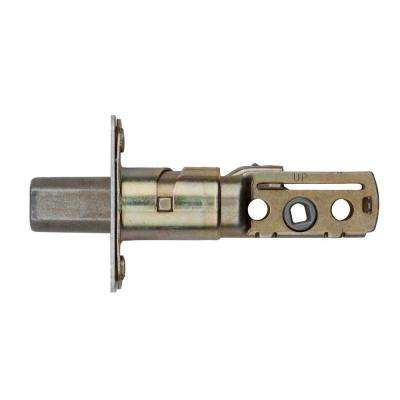 81306 Polished Brass 660 Standard Adjustable Deadbolt Door Latch