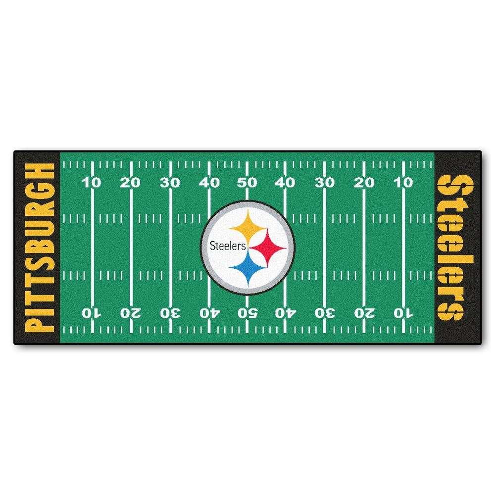 Fanmats Nfl Pittsburgh Steelers Green 2 Ft 6 In X 6 Ft