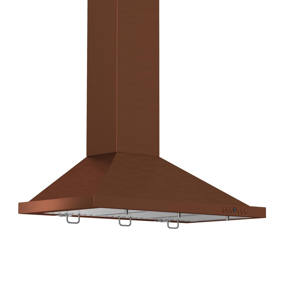 ZLINE Kitchen and Bath ZLINE 36 in. Wall Mount Range Hood in Copper ...