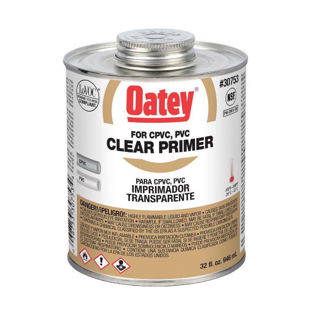 32 oz. Clear CPVC and PVC Primer