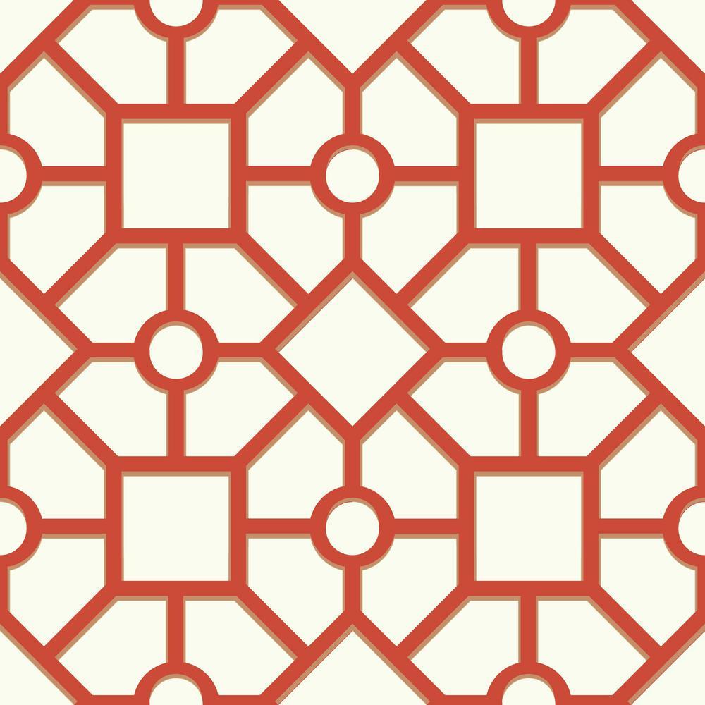 Awe Inspiring Geometric No Additional Features Orange Wallpaper Interior Design Ideas Skatsoteloinfo
