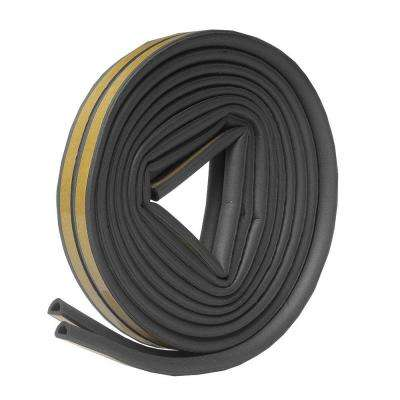 5/16 in. x 1/4 in. x 17 ft. Grey D-Center EPDM Medium Gap Weatherseal Tape