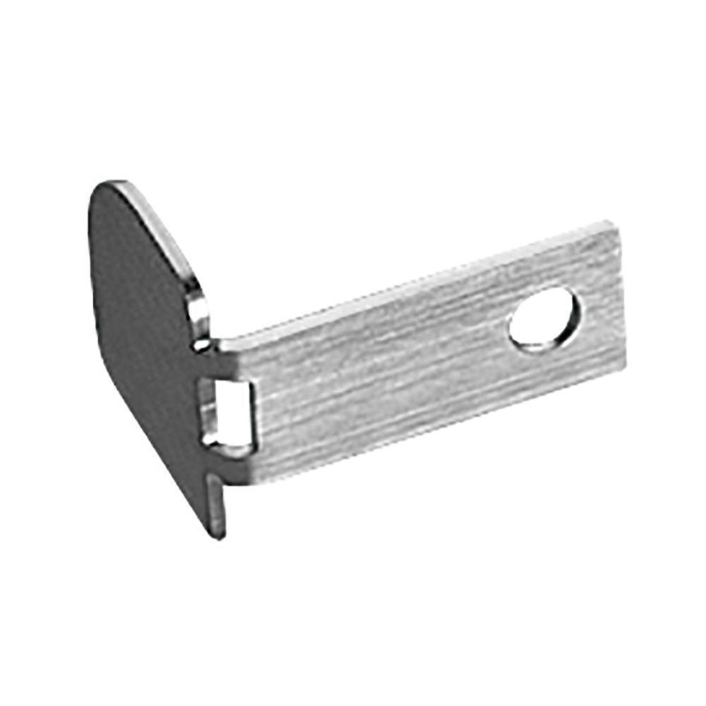 Rondec Brushed Stainless Steel 3/8 in. x 1 in. Metal End Cap