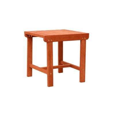 Malibu Square Wood Outdoor Side Table