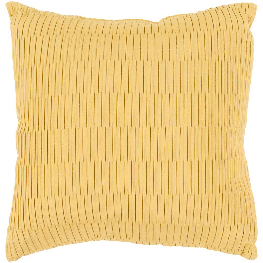 Gordon Yellow Geometric Polyester 16 in. x 16 in. Throw Pillow