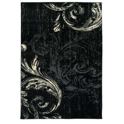 Infinity Black/Anthracit 7 ft. 9 in. x 9 ft. 5 in. Indoor Area Rug