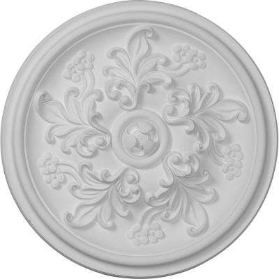 14-1/2 in. OD x 2-3/4 in. P (Fits Canopies up to 2-1/8 in.) Katheryn Ceiling Medallion