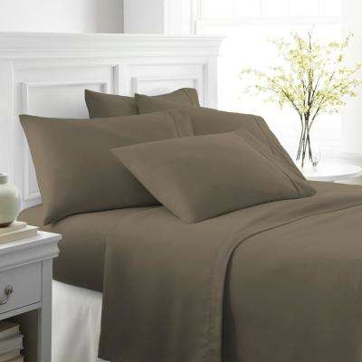 elegant comfort 6 piece stripe bed sheet set california king