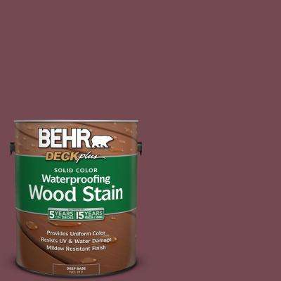 1 gal. #PPU2-20 Oxblood Solid Color Waterproofing Wood Stain