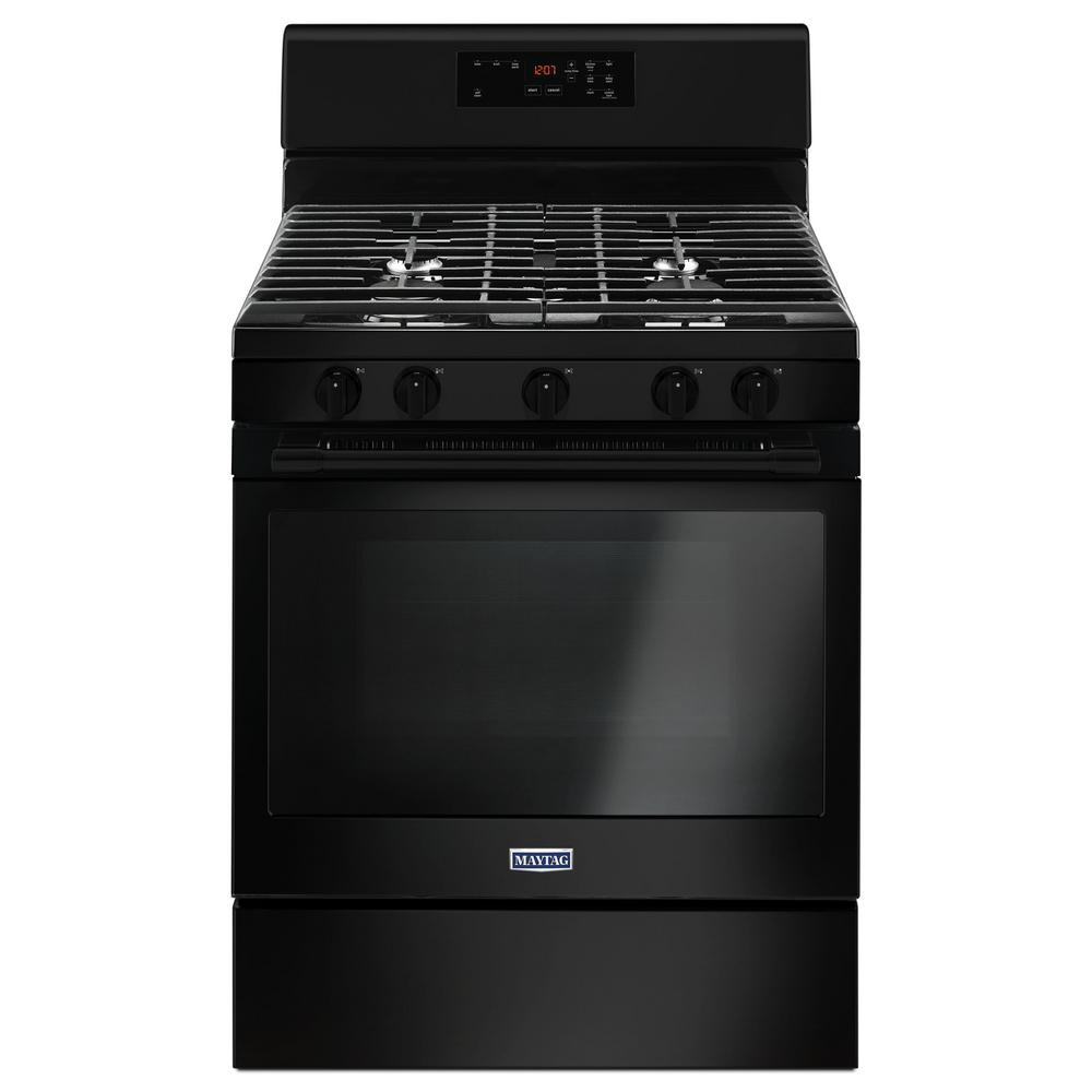 5.0 cu. ft. Gas Range with 5th Oval Burner in Black