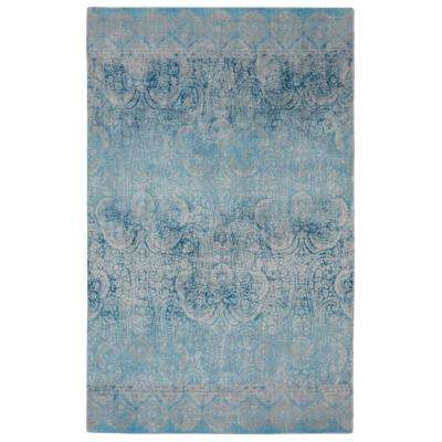 Gradient Contemporary Modern Blue 5 ft. x 7 ft. Area Rug