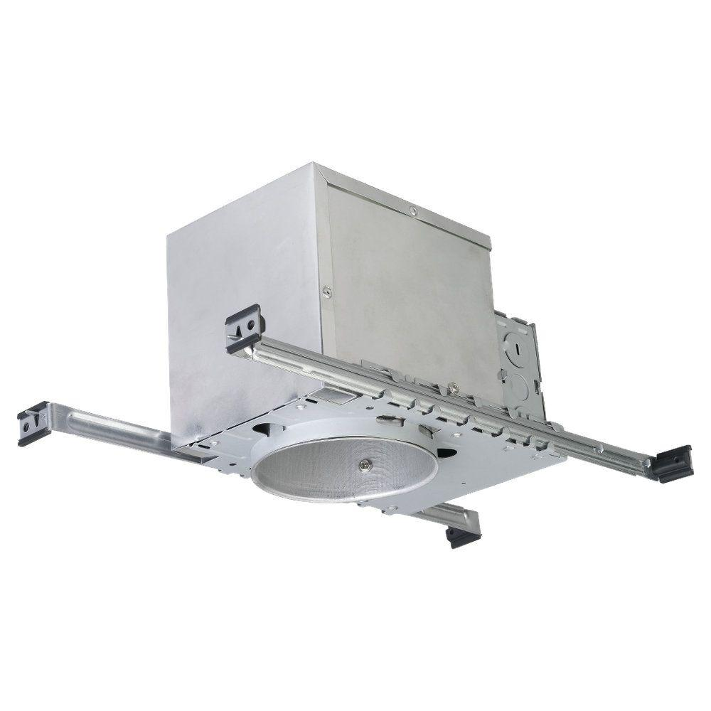 null New Construction IC Airtight 4 in. Metallic Recessed Housing Kit