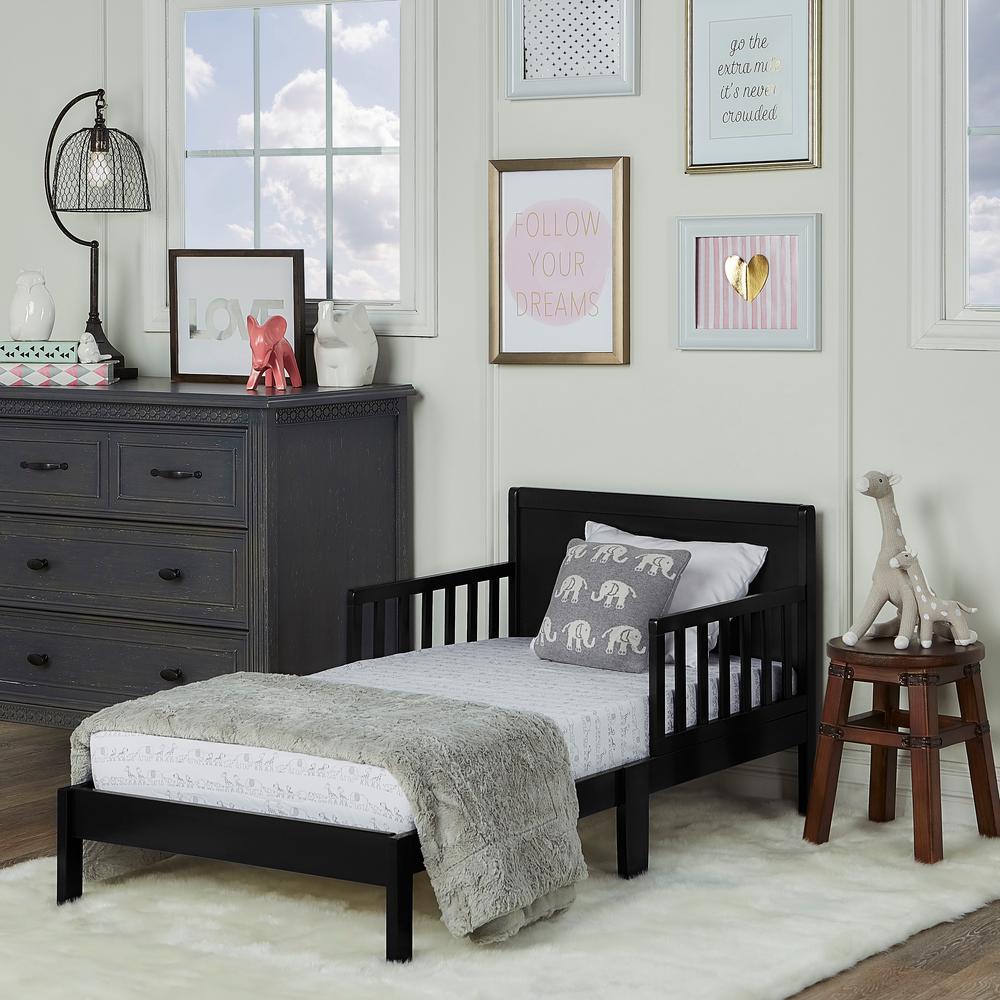Dream On Me Brookside Black Toddler Bed-648-BLK - The Home Depot