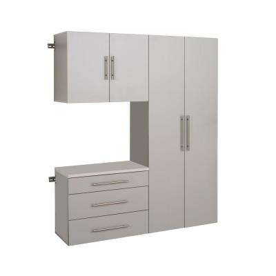 HangUps 72 in. H x 60 in. W Light Gray Wall Mounted Storage Cabinet Set B