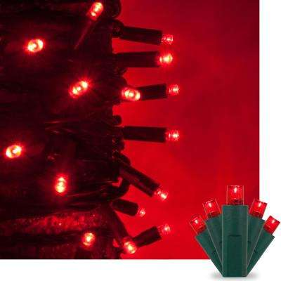 17 ft. 50-Light Red 5 mm LED Mini Light Set