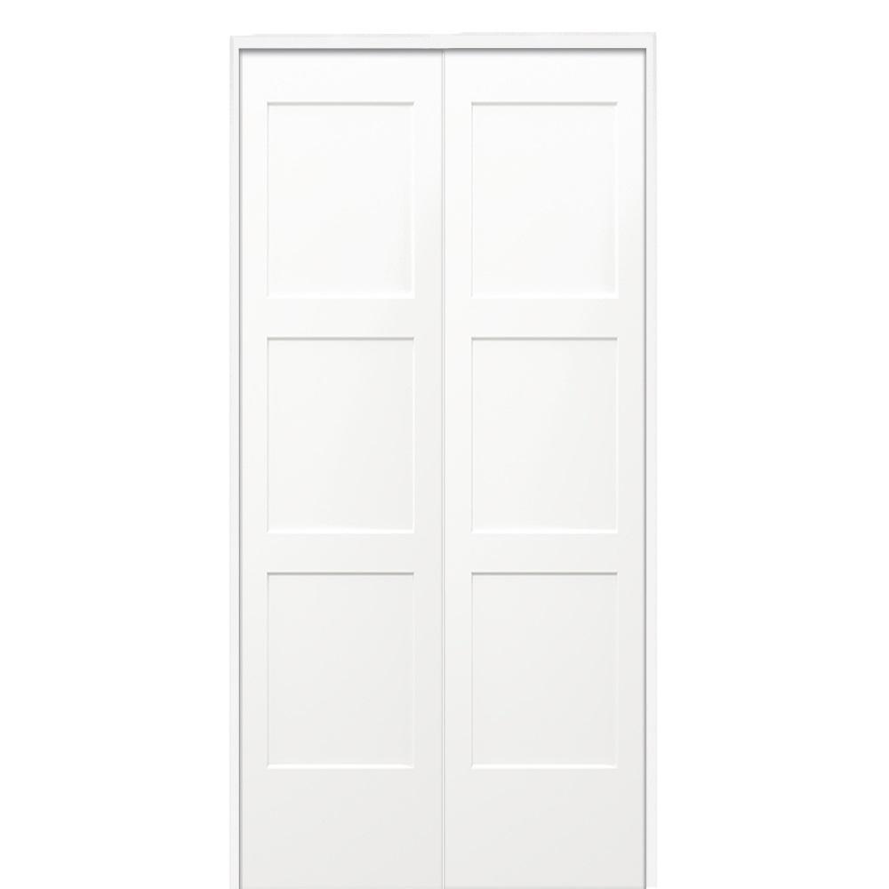 Mmi Door 36 In X 80 In Birkdale Primed Bi Parting Solid