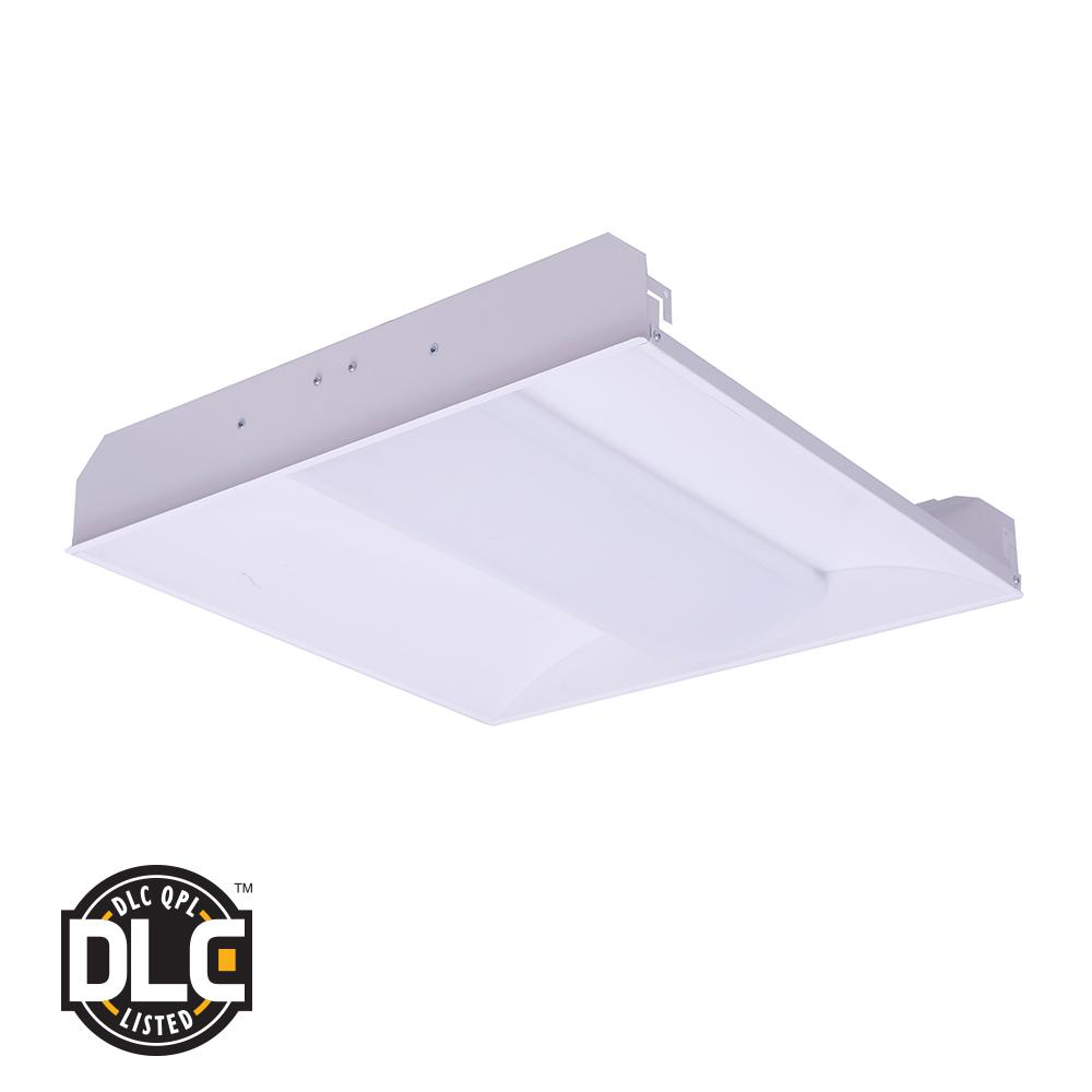 2 ft. x 2 ft. 34-Watt White Metal Flushmount Integrated LED