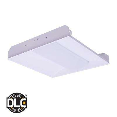 2 ft. x 2 ft. 34-Watt White Metal Flushmount Integrated LED Troffer Fixture