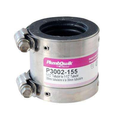2 in. x 1-1/2 in. EPDM Rubber Shielded Coupling