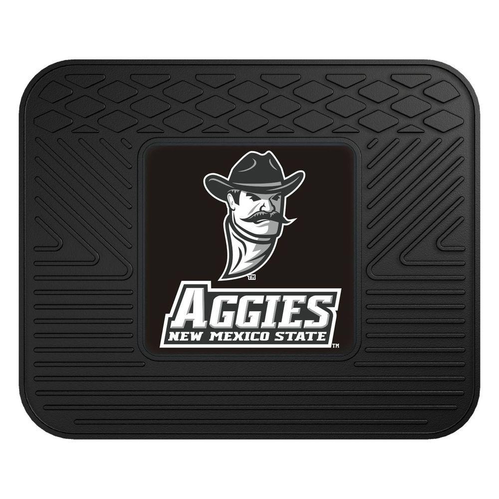 NCAA New Mexico State University Black Heavy Duty 1-Piece 14 in. x 17 in. Vinyl Utility Mat