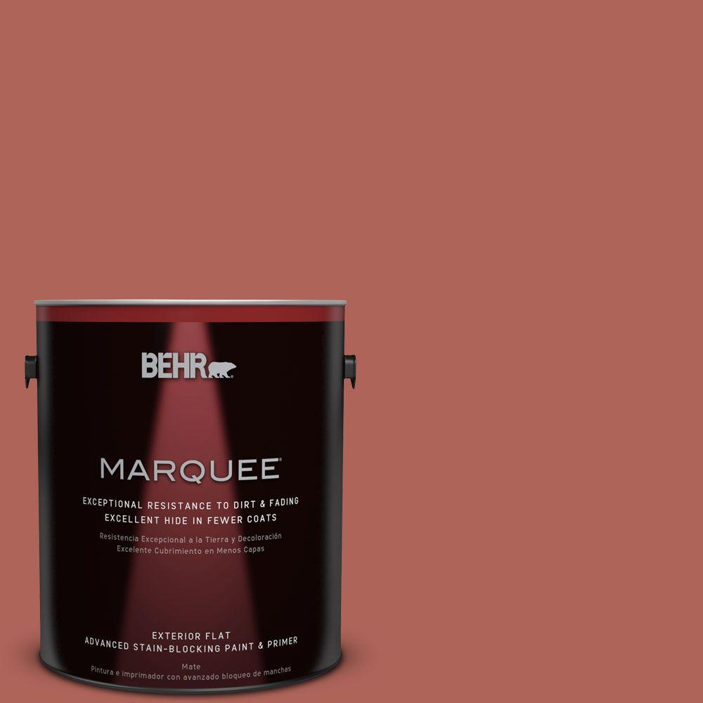 BEHR MARQUEE 1-gal. #QE-04 Chimayo Red Flat Exterior Paint