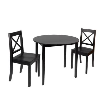 Murphy 3-Piece Black Drop Leaf Dining Set