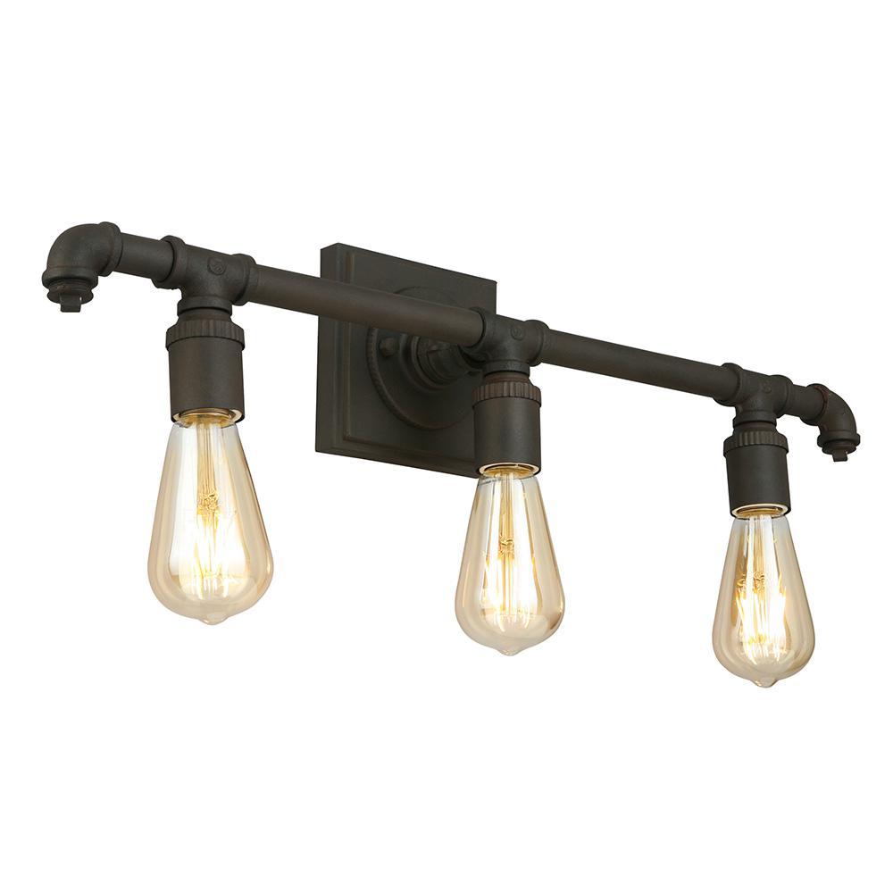 Wymer 3-Light Matte Bronze Bath Light