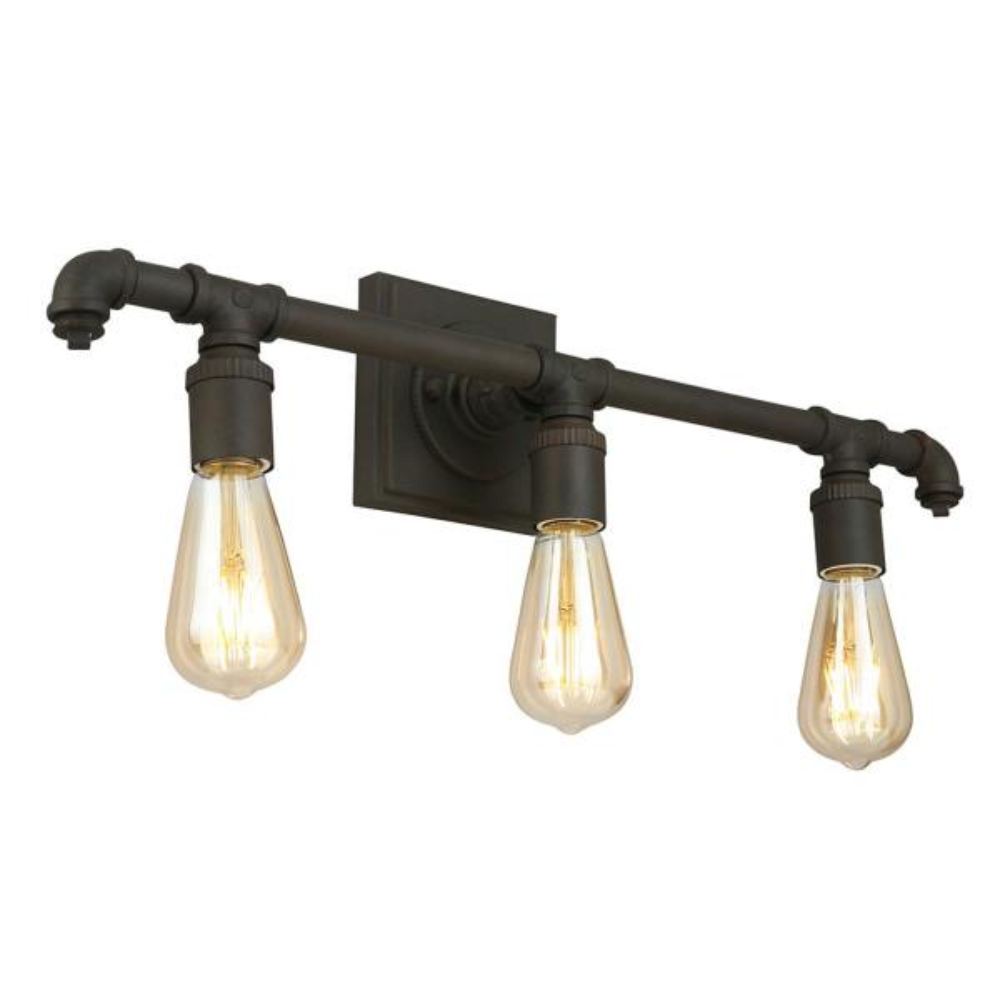 Wymer 23.11 in. W x 5.51 in. H 3-Light Matte Bronze Industrial Vanity Light