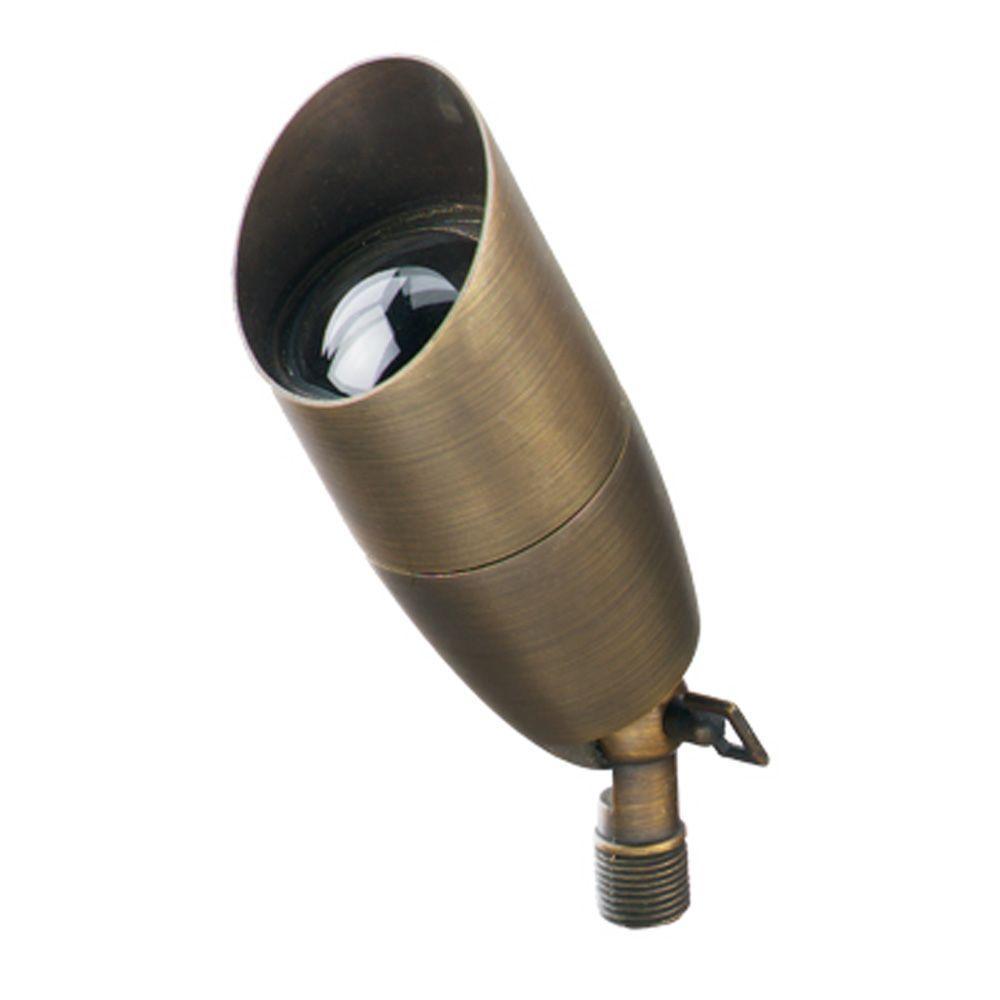 1-Light Antique Bronze Die-Cast Brass Up Light