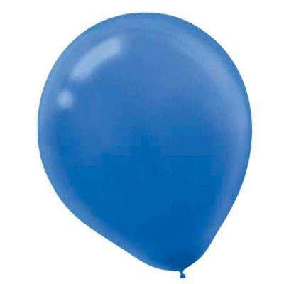 9 in. Bright Royal Blue Latex Balloons (20-Count, 18-Pack)