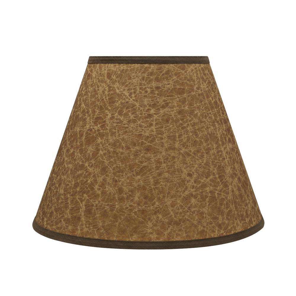 12 in. x 9 in. Dark Brown Hardback Empire Lamp Shade