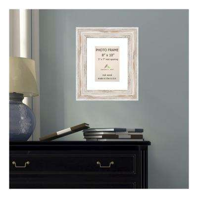 Alexandria 5 in. x 7 in. White Matted Whitewash Picture Frame