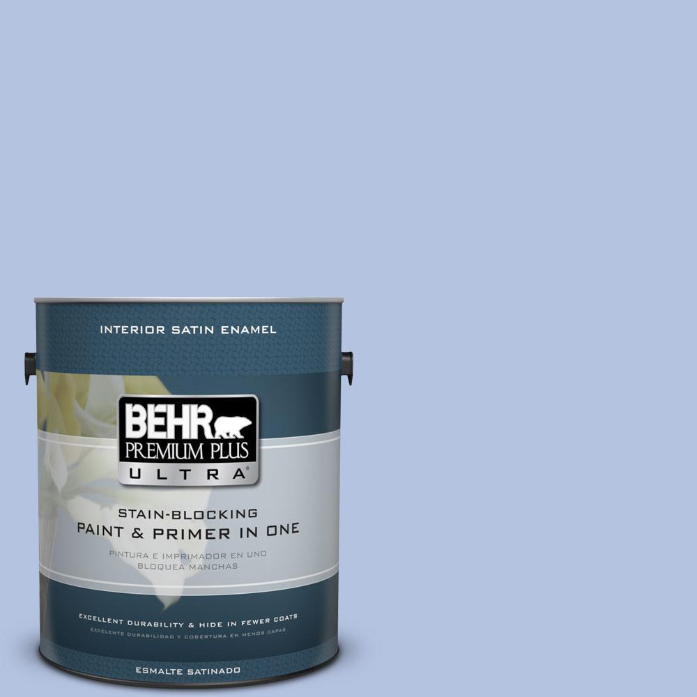 BEHR Premium Plus Ultra 1-gal. #600C-3 Periwinkle Bud Satin Enamel Interior Paint