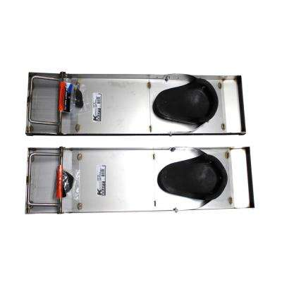 28 in. x 8 in. Deluxe Heavy-Duty Stainless Steel Knee Boards (Pair)