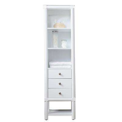 Sutton 20 in. W x 15 in. D x 72 in. H 3 Drawer Tall Side Unit in Bright White