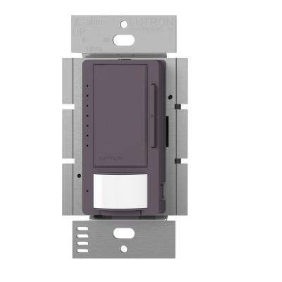 Maestro C.L Dimmer and Vacancy Motion Sensor, Single Pole and Multi-Location, Plum