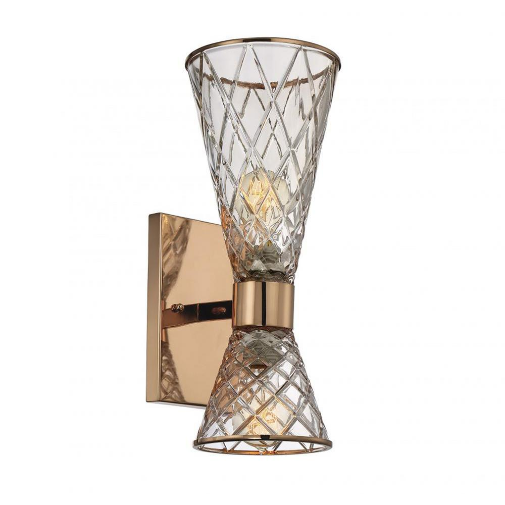 Terry 2-Light Rose Gold Outdoor Wall Mount Sconce