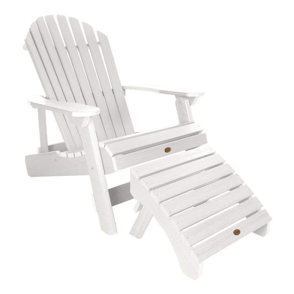 Magnificent Highwood King Hamilton White 2 Piece Recycled Plastic Outdoor Seating Set Creativecarmelina Interior Chair Design Creativecarmelinacom
