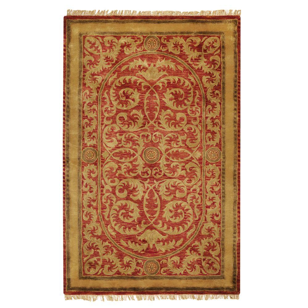 Home Decorators Collection Colette Red 8 ft. x 11 ft. Area Rug