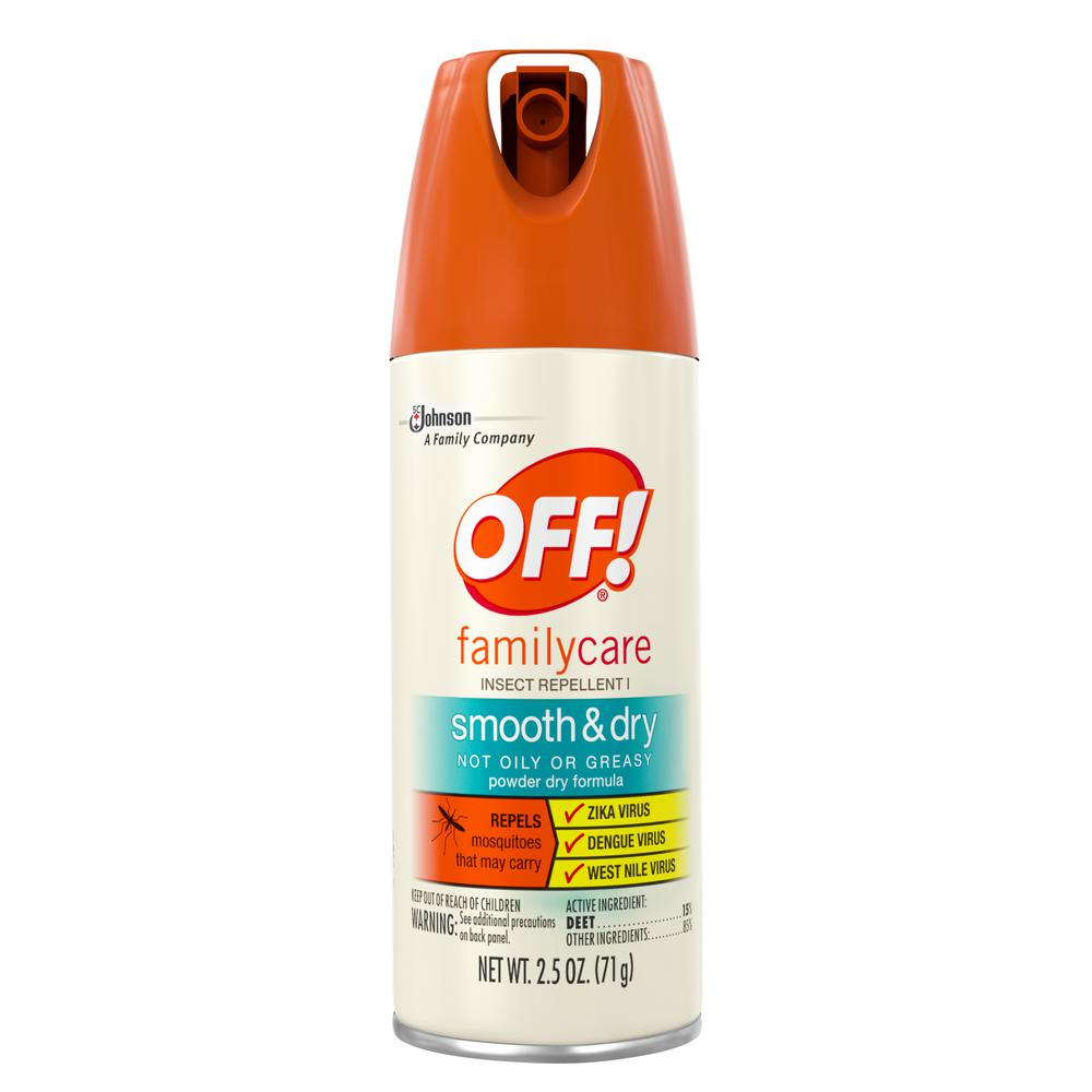 Off 2 5 Oz Familycare Insect Repellent I Smooth And Dry